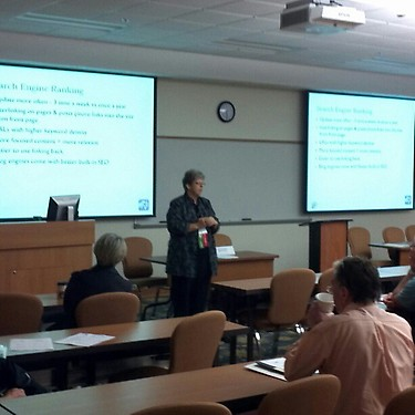 Birgit Pauli-Haack presenting at 4th Annual Turning Passion to Profit, Entrepreneur Seminar & Tradeshow at Florida Gulf Coast University
