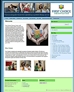 First Choice Therapy Center Redesign & Server Move